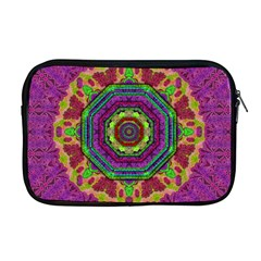 Mandala In Heavy Metal Lace And Forks Apple Macbook Pro 17  Zipper Case by pepitasart