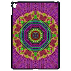 Mandala In Heavy Metal Lace And Forks Apple Ipad Pro 9 7   Black Seamless Case by pepitasart