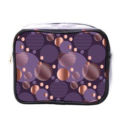Random Polka Dots, Fun, Colorful, Pattern,xmas,happy,joy,modern,trendy,beautiful,pink,purple,metallic,glam, Mini Toiletries Bags by 8fugoso