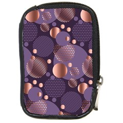 Random Polka Dots, Fun, Colorful, Pattern,xmas,happy,joy,modern,trendy,beautiful,pink,purple,metallic,glam, Compact Camera Cases by 8fugoso