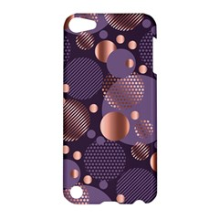 Random Polka Dots, Fun, Colorful, Pattern,xmas,happy,joy,modern,trendy,beautiful,pink,purple,metallic,glam, Apple Ipod Touch 5 Hardshell Case by 8fugoso