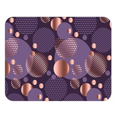 Random Polka Dots, Fun, Colorful, Pattern,xmas,happy,joy,modern,trendy,beautiful,pink,purple,metallic,glam, Double Sided Flano Blanket (large)  by 8fugoso