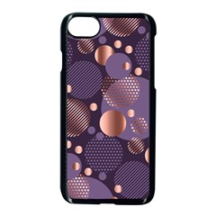 Random Polka Dots, Fun, Colorful, Pattern,xmas,happy,joy,modern,trendy,beautiful,pink,purple,metallic,glam, Apple Iphone 7 Seamless Case (black) by 8fugoso
