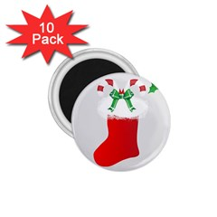 Christmas Stocking 1 75  Magnets (10 Pack)
