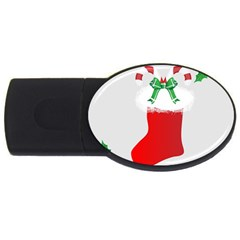 Christmas Stocking Usb Flash Drive Oval (4 Gb) by christmastore