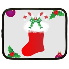 Christmas Stocking Netbook Case (xl)  by christmastore