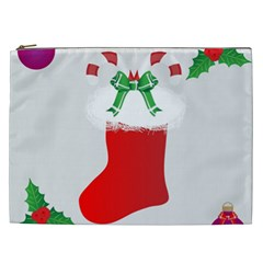 Christmas Stocking Cosmetic Bag (xxl)  by christmastore