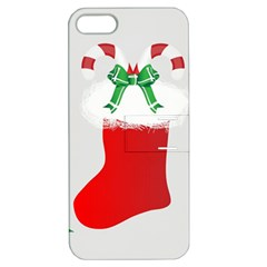 Christmas Stocking Apple Iphone 5 Hardshell Case With Stand by christmastore