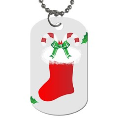 Christmas Stocking Dog Tag (one Side) by christmastore