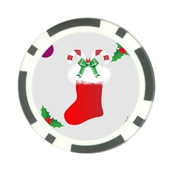 Christmas Stocking Poker Chip Card Guard (10 Pack) by christmastore
