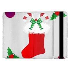 Christmas Stocking Samsung Galaxy Tab Pro 12 2  Flip Case by christmastore