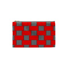 Black And White Red Patterns Cosmetic Bag (small)  by Celenk