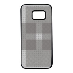 Gray Designs Transparency Square Samsung Galaxy S7 Black Seamless Case