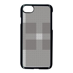 Gray Designs Transparency Square Apple Iphone 7 Seamless Case (black) by Celenk
