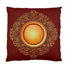 Badge Gilding Sun Red Oriental Standard Cushion Case (one Side) by Celenk