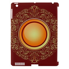 Badge Gilding Sun Red Oriental Apple Ipad 3/4 Hardshell Case (compatible With Smart Cover) by Celenk