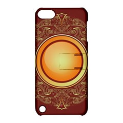 Badge Gilding Sun Red Oriental Apple Ipod Touch 5 Hardshell Case With Stand by Celenk