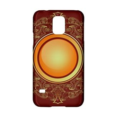 Badge Gilding Sun Red Oriental Samsung Galaxy S5 Hardshell Case  by Celenk