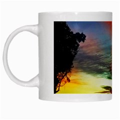 Sunset Mountain Indonesia Adventure White Mugs by Celenk