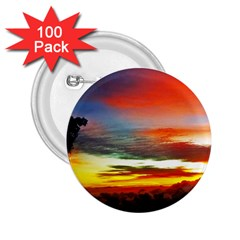 Sunset Mountain Indonesia Adventure 2 25  Buttons (100 Pack)  by Celenk