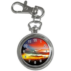 Sunset Mountain Indonesia Adventure Key Chain Watches by Celenk