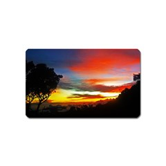 Sunset Mountain Indonesia Adventure Magnet (name Card) by Celenk