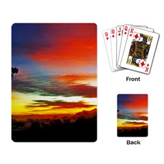 Sunset Mountain Indonesia Adventure Playing Card by Celenk