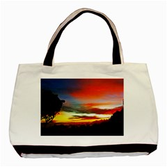 Sunset Mountain Indonesia Adventure Basic Tote Bag by Celenk