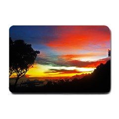 Sunset Mountain Indonesia Adventure Small Doormat  by Celenk