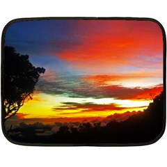 Sunset Mountain Indonesia Adventure Double Sided Fleece Blanket (mini)  by Celenk