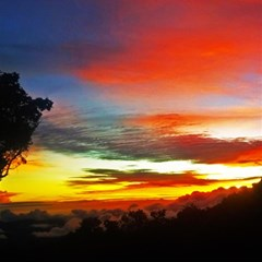 Sunset Mountain Indonesia Adventure Magic Photo Cubes by Celenk