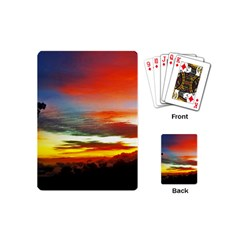 Sunset Mountain Indonesia Adventure Playing Cards (mini)  by Celenk