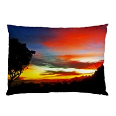 Sunset Mountain Indonesia Adventure Pillow Case (two Sides) by Celenk