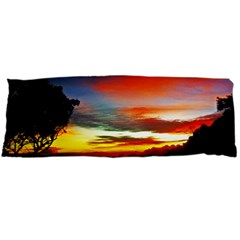 Sunset Mountain Indonesia Adventure Body Pillow Case Dakimakura (two Sides) by Celenk