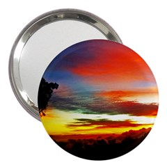 Sunset Mountain Indonesia Adventure 3  Handbag Mirrors by Celenk