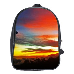 Sunset Mountain Indonesia Adventure School Bag (xl) by Celenk