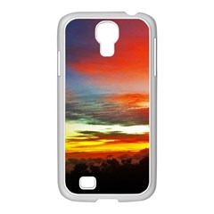 Sunset Mountain Indonesia Adventure Samsung Galaxy S4 I9500/ I9505 Case (white) by Celenk