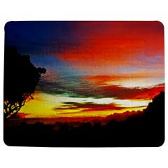 Sunset Mountain Indonesia Adventure Jigsaw Puzzle Photo Stand (rectangular) by Celenk