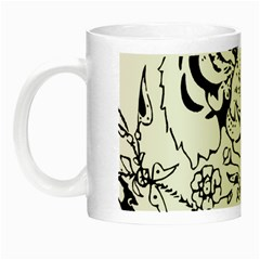Tiger Animal Decoration Flower Night Luminous Mugs by Celenk