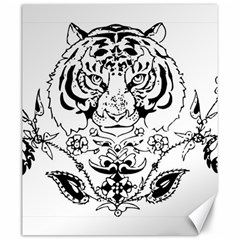 Tiger Animal Decoration Flower Canvas 20  X 24   by Celenk
