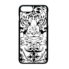 Tiger Animal Decoration Flower Apple Iphone 7 Plus Seamless Case (black)