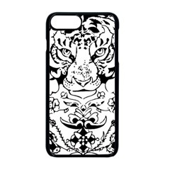 Tiger Animal Decoration Flower Apple Iphone 8 Plus Seamless Case (black)