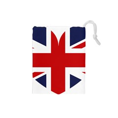 Uk Flag United Kingdom Drawstring Pouches (small)