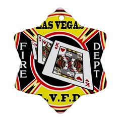 Las Vegas Fire Department Snowflake Ornament (two Sides) by allthingseveryday