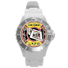 Las Vegas Fire Department Round Plastic Sport Watch (l) by allthingseveryday