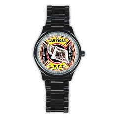 Las Vegas Fire Department Stainless Steel Round Watch by allthingseveryday