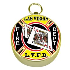Las Vegas Fire Department Gold Compasses by allthingseveryday