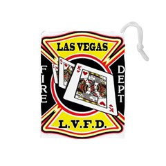 Las Vegas Fire Department Drawstring Pouches (medium)  by allthingseveryday