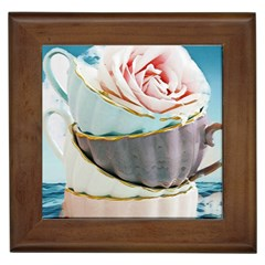 Tea Cups Framed Tiles by 8fugoso