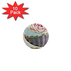 Tea Cups 1  Mini Buttons (10 Pack)  by 8fugoso